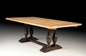 PM-4656-CR Trestle Dining Table