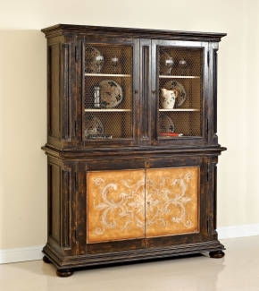 PM-4710A Two Piece Tuscany Style Buffet and Hutch