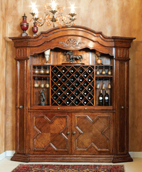 B-1W Wall Unit with Wine Rack