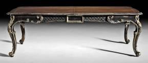 GV-813-BG French Dining Table - Ebony & Gold