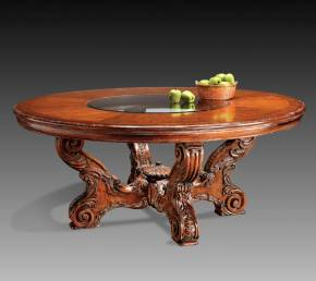 GV-821 Round Table w/ Glass Insert