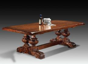 GV-823 Trestle Table w/ Hand Hewn Plank Top