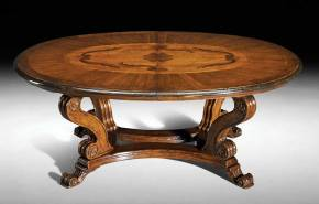 GV-827 Inlaid Oval Table
