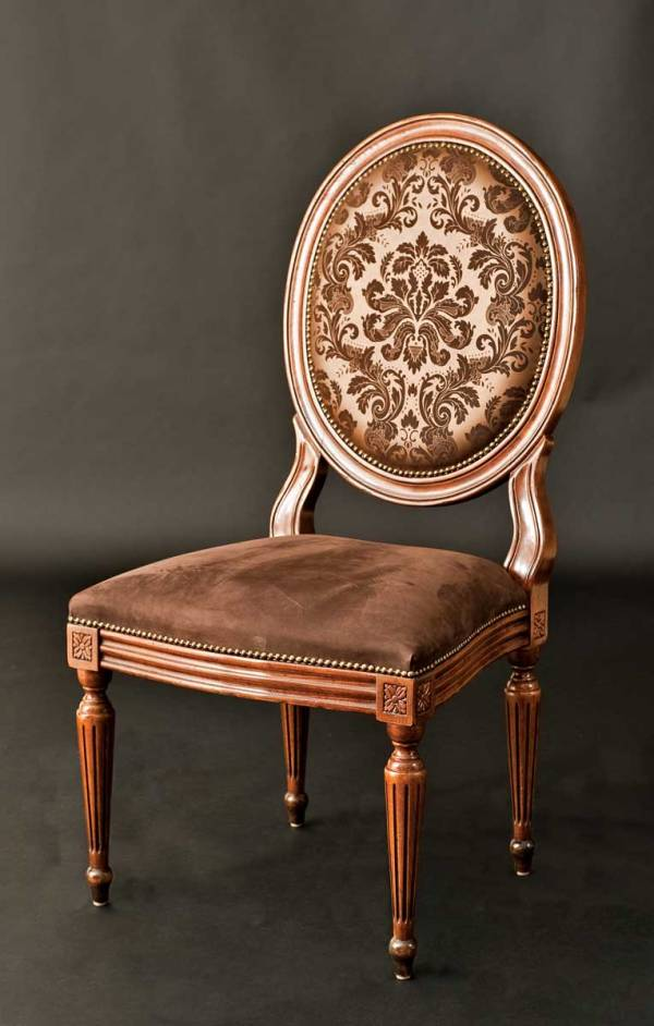 GV-82-CL Side Chair in Damask Leather as shown