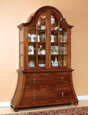 B-2 2 Piece Curio Cabinet