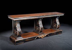 GV-828-3N Console - Black lacquer & stain