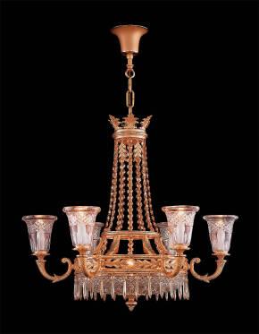 M-19209 Chandelier w/ Scholer Crystal