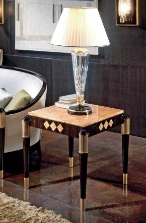 TM-4041 Makassar Ebony Side Table