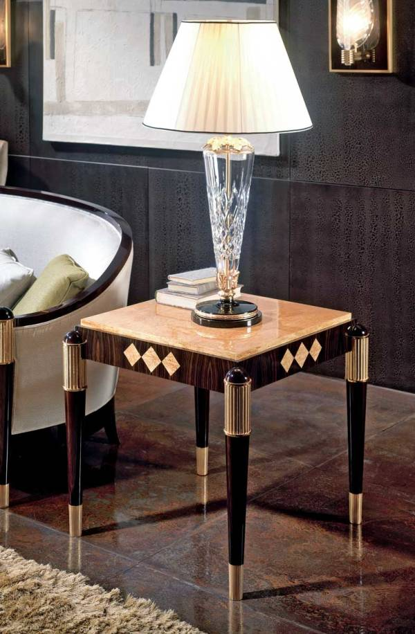 TM-4041 Makassar Ebony Side Table