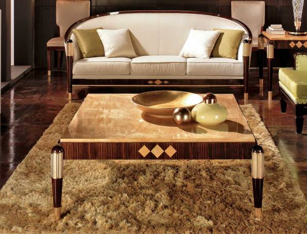 TM-4040 Makassar Ebony Coffee Table