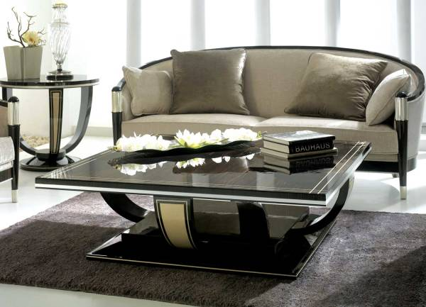 TM-4064 Makassar Ebony Coffee Table