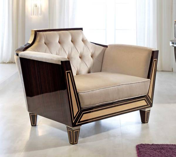 TM-02-1 Makassar Ebony Lounge Chair