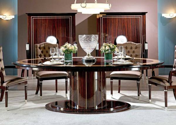 TM-102 Makassar Ebony Dining Table