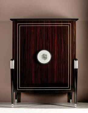 TM-2000 Makassar Ebony Bar Cabinet