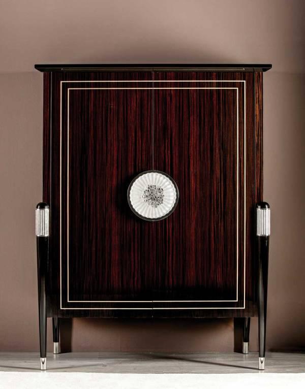 TM-2000 Makassar Ebony Bar Cabinet