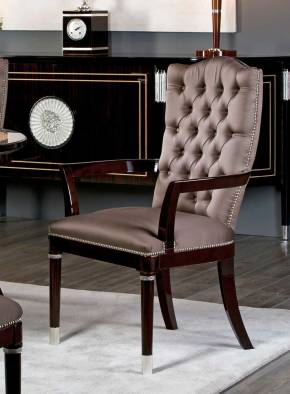 TM-301 Makassar Ebony Arm Chair