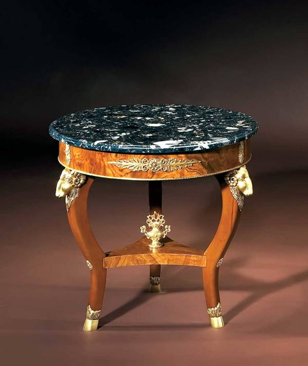 BN-1998N Marble Top Empire Table
