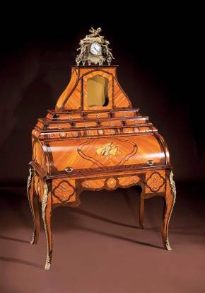 BN-2012 Louis XVI Roll Top Desk