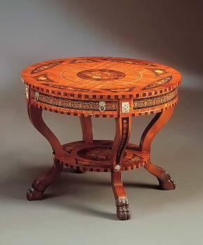 BN-398G Maggiolini Round Lamp Table