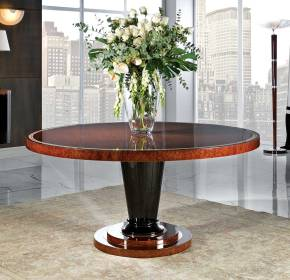 TM-105 Burl Veneer Round Dining Table