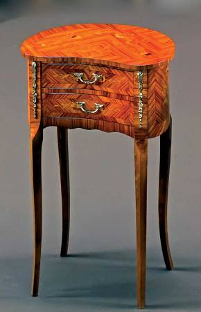PL-24 Louis XVI Kidney Shaped Table