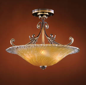 M-19510 Venetian Glass Ceiling Fixture