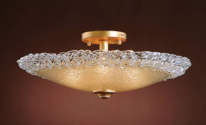 M-19555 Venetian Glass Ceiling Fixture