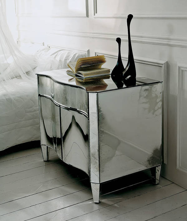 AV-2090 Mirrored Night Stand
