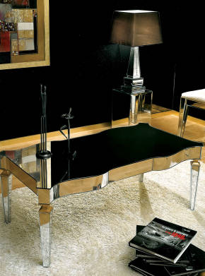 AV-2180 Mirrored Coffee Table