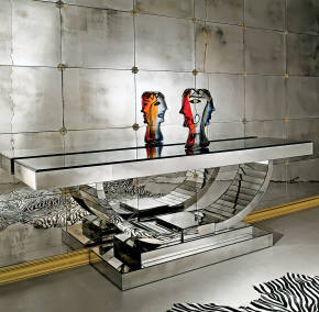 AV-4100 Mirrored Console Table