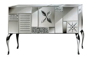 AV-7000-S Mirrored Sideboard