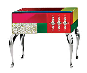 AV-7030-C Multicolored Mirrored Night Stand