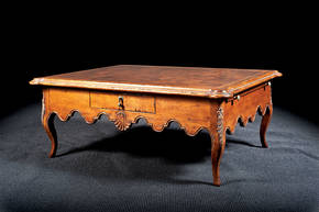 B-13W Coffee Table with Burl Wood Top