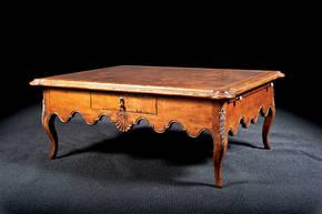 B-13W Coffee Table with Burl Wood Top