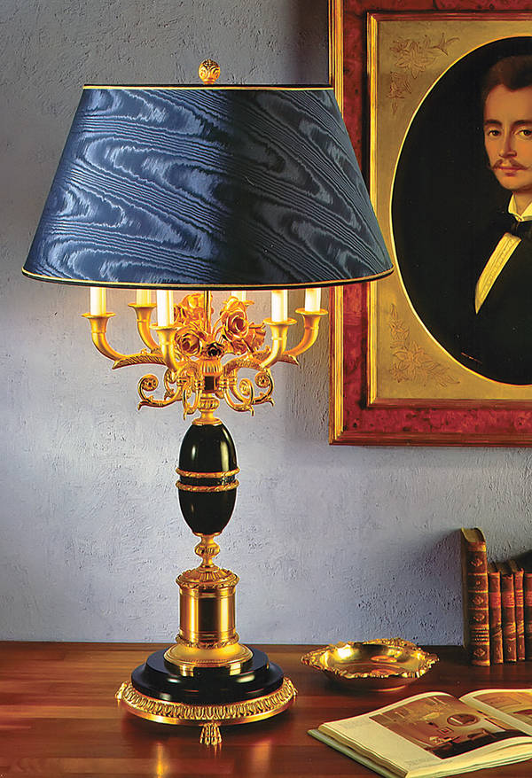 LD-AFRODITE-II-M Table Lamp w / Marble Base