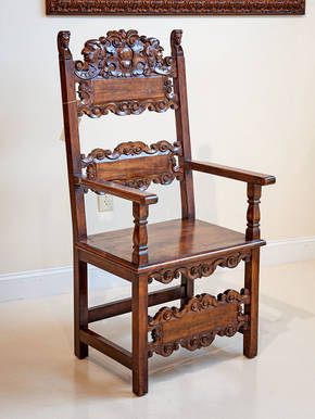 GM-40-13 Antique Wooden Armchair