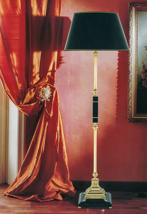 LD-STELO DEMETRA Bronze and Marble Floor Lamp