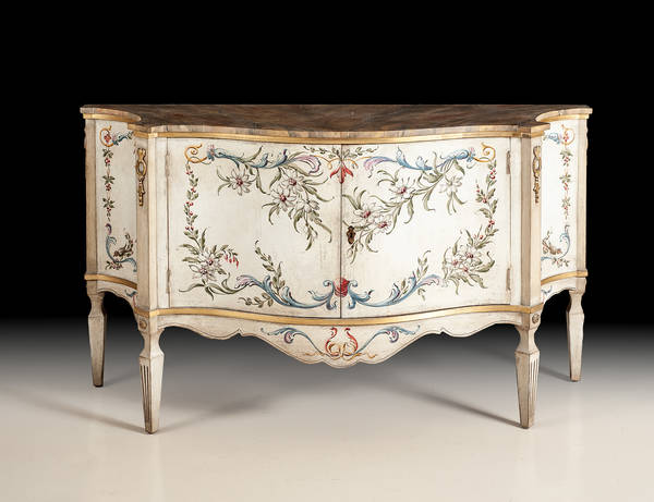 BAR-23W Hand Painted Credenza