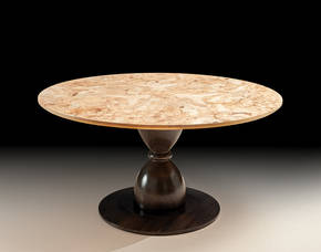 PM-T150 Burl Top Round Table