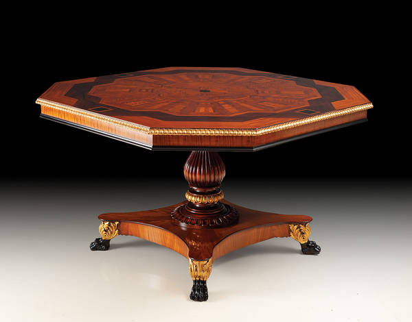 RM-T159 Satinwood Regency Table