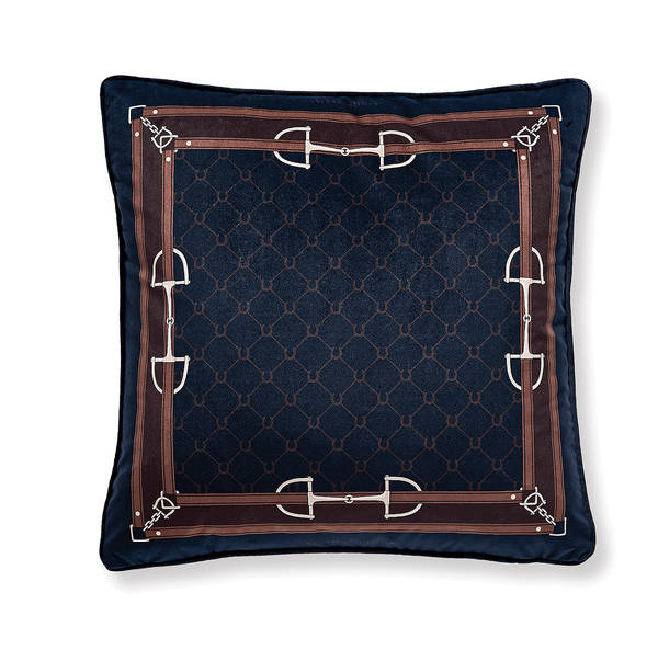AB-1701-029-NVY Equestrian Themed Pillow