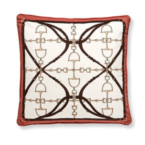 AB-1701-041-ORG Equestrian Themed Pillow