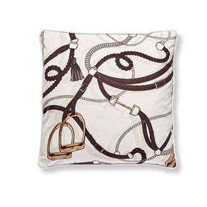 AB-1701-042-OWT Equestrian Themed Pillow