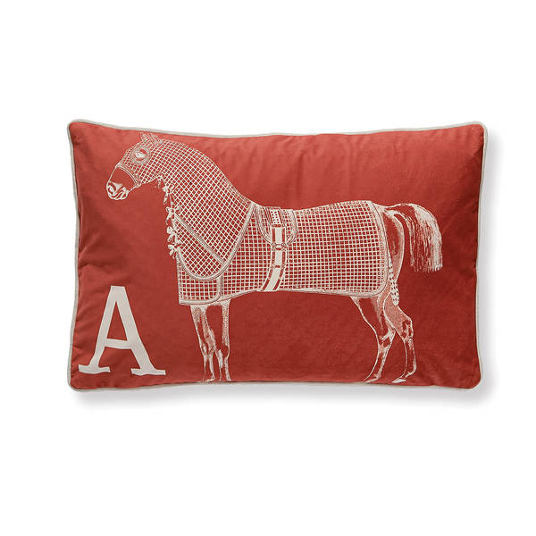 AB-1701-045-ORG Equestrian Themed Pillow