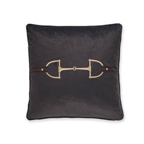 AB-1701-049-GRY Equestrian Themed Pillow