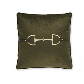 AB-1701-049-OLV Equestrian Themed Pillow