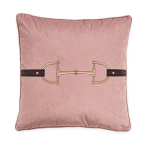 AB-1701-049-PNK Equestrian Themed Pillow