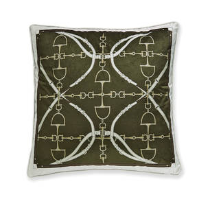 AB-1701-050-OLV Equestrian Themed Pillow