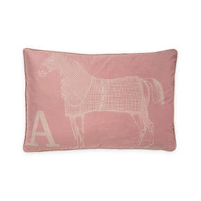 AB-1701-051-PNK Equestrian Themed Pillow