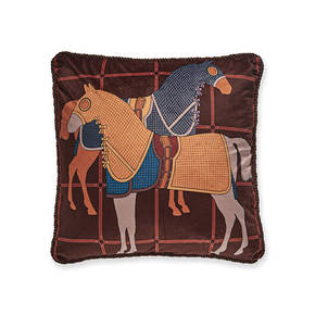 AB-1701-052-BR Equestrian Themed Pillow
